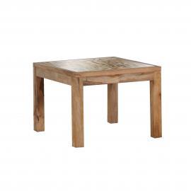 Tavolino da salotto Letters I - Legno massello di mango, ars manufacti