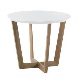 Tavolino Limmared - Bianco opaco / Quercia, Morteens