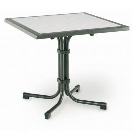 Tavolo da giardino Boulevard (pieghevole) - Acciaio tubolare/Werzalit Acciaio/Werzalit Color antracite, Best Freizeitmöbel