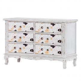 Cassettiera Mirle I - Parzialmente in legno massello di abete Bianco, Maison Belfort
