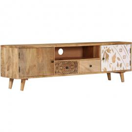 Mobile Porta TV 140x30x40 cm in Legno Massello di Mango - ASUPERMALL