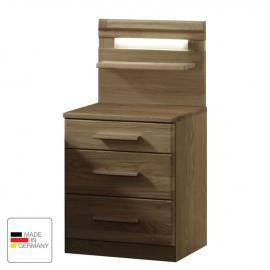 Comodino Münster - Parzialmente in legno massello di quercia - Larghezza: 40 cm, Wiemann