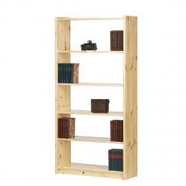 Libreria Tomke II - Legno massello di pino al naturale, Steens