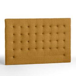 Cabecero de cama estilo capitonado de lino lavado Al. 120 cm SELVE