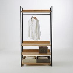 Módulo de armario ancho con 3 estantes y 1 ropero HIBA