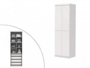Armario ALVIN - 2 puertas - Largo 78 cm - Blanco