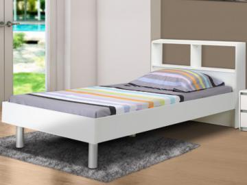 Cama LUCILE - Blanco - 90x190 cm - Con compartimentos