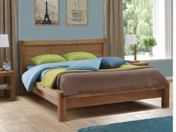 Estructura de cama BROCELIANDE II - 140x190 cm - Roble acabado al aceite