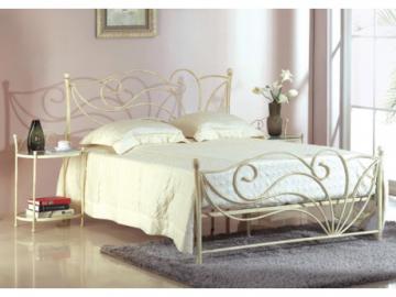 Estructura de cama + somier IMPERATRICE - 140x190 cm