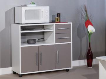 Muebles de cocina con ruedas BERTILLE - Marrón topo