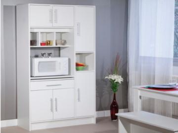 Aparador de cocina MADY - 5 puertas y 1 cajón - Color blanco