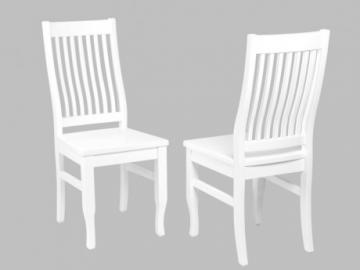 Conjunto de 2 sillas GUERANDE - Pino blanco
