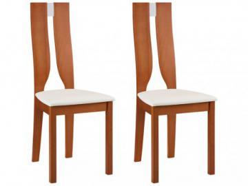 Conjunto de 2 sillas SILVIA - Haya maciza color cerezo