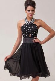 Czarna sukienka na studniówkę / karnawał - Lejdi