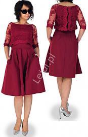 Elegancka sukienka z imitacją bolerka, 5 kolorów, mon 319 r. 34 - 46 - Lejdi