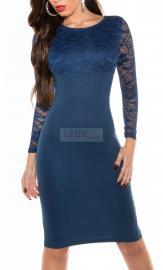 Koronkowa sukienka 337 -2 , granatowa - Lejdi