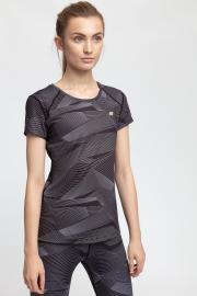 Koszulka treningowa damska TSDF205 - multikolor allover