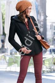 Pikowana czarna kurtka | jesienna kurtka - Lejdi