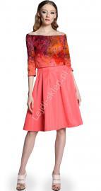 Sukienka z imitacją bolerka by MONA by Monika Natora 286 , 5 kolorów - Lejdi