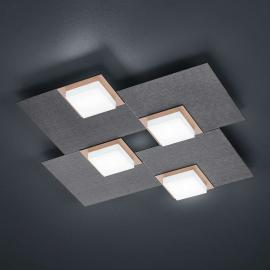 BANKAMP Quadro LED-plafondlamp 32 W antraciet