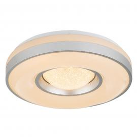 LED plafondlamp Colla met metalen frame in zilver