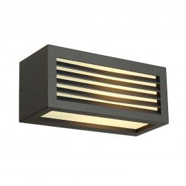 Antracietkleurige outdoor wandlamp box L E27