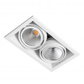 LED inbouwspot Zipar Duo Recessed 60W, 3.000K