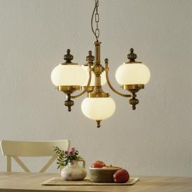 Stijlvolle hanglamp DELIA in oud messing