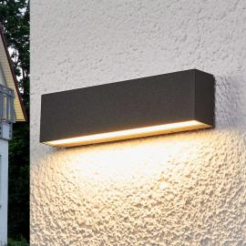 Elvira - grafietgr. LED outdoor wandlamp met IP65