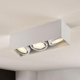 LED downlight Rosalie, 3-lamps, hoekig, wit