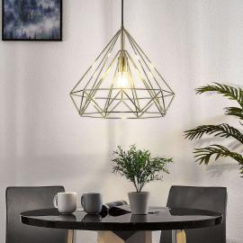 Hanglamp Insida in kooilook, messingkleurig