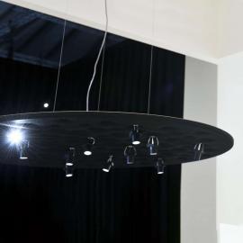 Artemide Silent Field - schwarze LED-Hängeleuchte