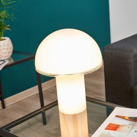 Designer-Tischleuchte Onfale medio aus Glas