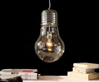 DELIFE Hängeleuchte Bulb Deluxe 30 cm Transparent Glühbirne, Hängeleuchten