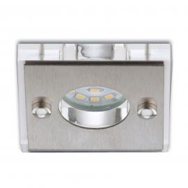 Viereckiger LED-Einbaustrahler Nikas alu