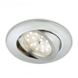 Alufarbener LED-Einbaustrahler Erik schwenkbar