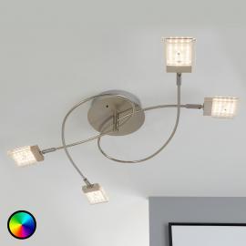 LED-Deckenleuchte Bunto mit Farbwechselfunktion