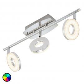 3-flg. LED-Deckenstrahler Zara m. Fernbedienung