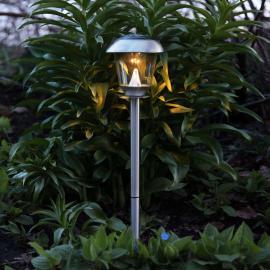 Schöne LED-Solarleuchte Sarina edelstahl 66 cm