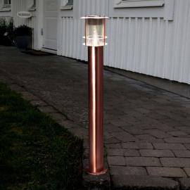 Stilvolle LED-Pollerleuchte Juno - solarbetrieben