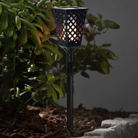 Mit Flammeneffekt - LED-Solarleuchte Flame