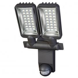 Zweiflammiger LED-Außenstrahler City m. Sensor