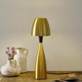 Messingfarbene LED-Tischleuchte Anemon 38,9 cm