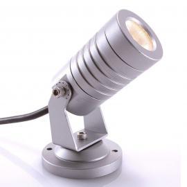 Warmweiß leuchtender LED-Außenstrahler Mini