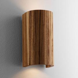 Schöne Wandleuchte Tube Zebrano 17,5 cm