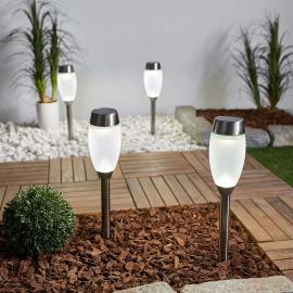 LED-Solarleuchte Larry mit Glasdiffusor, 4er-Set