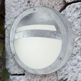 Runde Außenwandleuchte SEVILLA, Stahl verzinkt