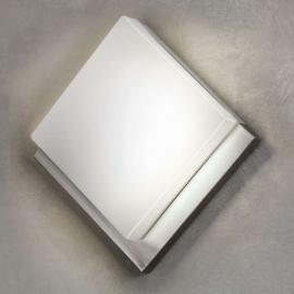 Rautenförmige LED-Außenwandleuchte Infesto 1