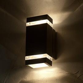 Quaderförmige LED-Außenwandleuchte FOCUS