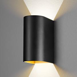 Schwarz-goldene LED-Wandleuchte Feeling
